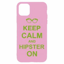 Чехол для iPhone 11 Keep calm an hipster on