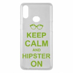 Чехол для Samsung A10s Keep calm an hipster on