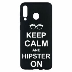 Чехол для Samsung M30 Keep calm an hipster on