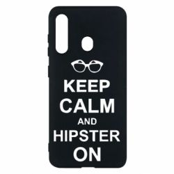 Чехол для Samsung M40 Keep calm an hipster on