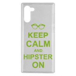 Чехол для Samsung Note 10 Keep calm an hipster on