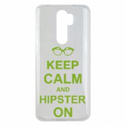 Чехол для Xiaomi Redmi Note 8 Pro Keep calm an hipster on