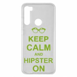 Чехол для Xiaomi Redmi Note 8 Keep calm an hipster on