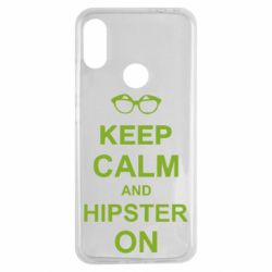 Чехол для Xiaomi Redmi Note 7 Keep calm an hipster on