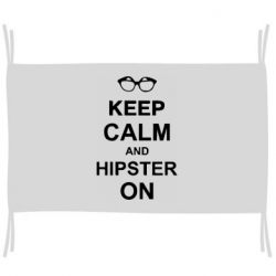 Флаг Keep calm an hipster on