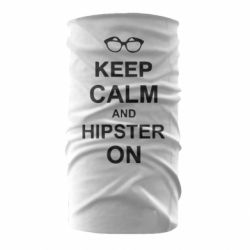 Бандана-труба Keep calm an hipster on