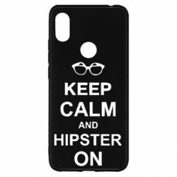 Чехол для Xiaomi Redmi S2 Keep calm an hipster on