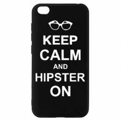 Чехол для Xiaomi Redmi Go Keep calm an hipster on