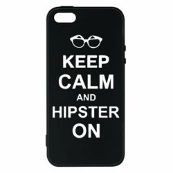 Чехол для iPhone5/5S/SE Keep calm an hipster on