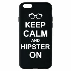 Чехол для iPhone 6/6S Keep calm an hipster on