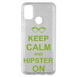 Чехол для Samsung M30s Keep calm an hipster on