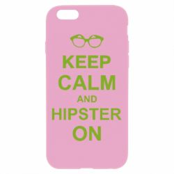 Чехол для iPhone 6 Plus/6S Plus Keep calm an hipster on