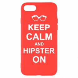 Чехол для iPhone 7 Keep calm an hipster on