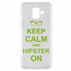 Чехол для Samsung A6 2018 Keep calm an hipster on