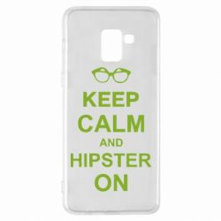 Чехол для Samsung A8+ 2018 Keep calm an hipster on
