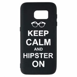 Чехол для Samsung S7 Keep calm an hipster on