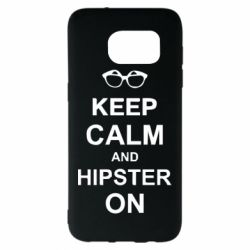 Чехол для Samsung S7 EDGE Keep calm an hipster on