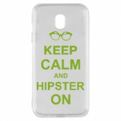 Чехол для Samsung J3 2017 Keep calm an hipster on
