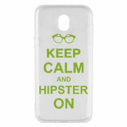 Чехол для Samsung J5 2017 Keep calm an hipster on