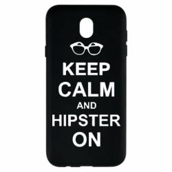 Чехол для Samsung J7 2017 Keep calm an hipster on