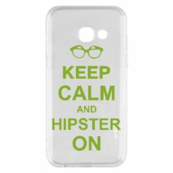 Чехол для Samsung A3 2017 Keep calm an hipster on