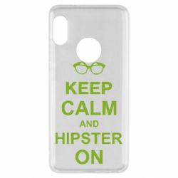 Чехол для Xiaomi Redmi Note 5 Keep calm an hipster on