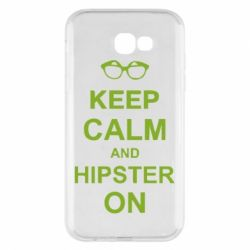 Чехол для Samsung A7 2017 Keep calm an hipster on