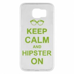 Чехол для Samsung S6 Keep calm an hipster on