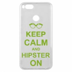 Чехол для Xiaomi Mi A1 Keep calm an hipster on