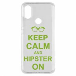 Чехол для Xiaomi Mi A2 Keep calm an hipster on