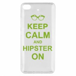 Чехол для Xiaomi Mi 5s Keep calm an hipster on