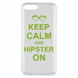 Чехол для Xiaomi Mi6 Keep calm an hipster on