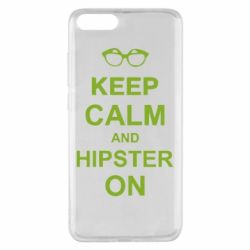 Чехол для Xiaomi Mi Note 3 Keep calm an hipster on