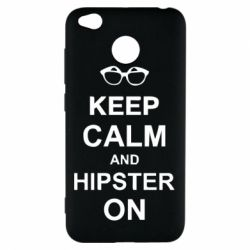Чехол для Xiaomi Redmi 4x Keep calm an hipster on