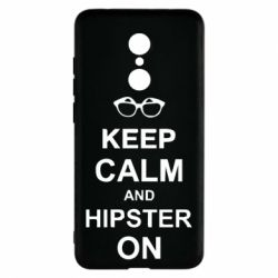 Чехол для Xiaomi Redmi 5 Keep calm an hipster on