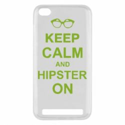 Чехол для Xiaomi Redmi 5a Keep calm an hipster on