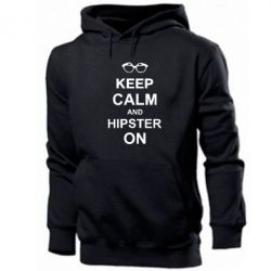 Толстовка Keep calm an on hipster - FatLine