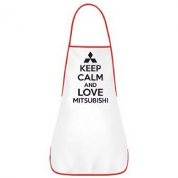 Фартук Keep calm an love mitsubishi