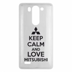 Чехол для LG G3 mini/G3s Keep calm an love mitsubishi - FatLine