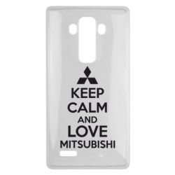 Чехол для LG G4 Keep calm an love mitsubishi - FatLine
