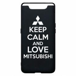 Чехол для Samsung A80 Keep calm an love mitsubishi