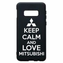 Чехол для Samsung S10e Keep calm an love mitsubishi