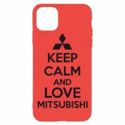 Чехол для iPhone 11 Pro Keep calm an love mitsubishi