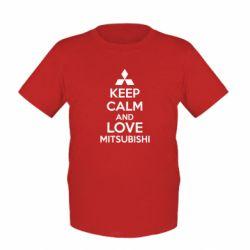 Дитяча футболка Keep calm an love mitsubishi
