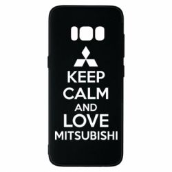 Чехол для Samsung S8 Keep calm an love mitsubishi - FatLine