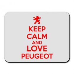 Коврик для мыши Keep calm an love peugeot - FatLine