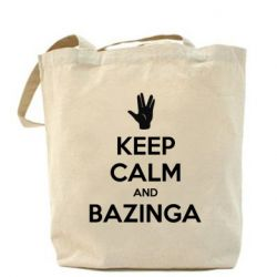 Сумка Keep Calm and Bazinga - FatLine
