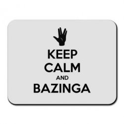 Коврик для мыши Keep Calm and Bazinga - FatLine