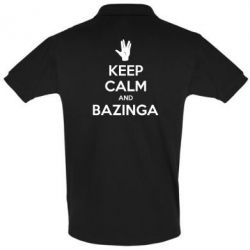 Футболка Поло Keep Calm and Bazinga - FatLine