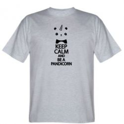 Футболка Keep calm and be a pandicorn